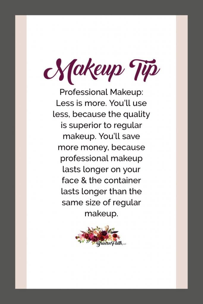 Makeup Tip, Professional Makeup, Less is more, quality is superior to regular makeup and it lasts longer due to higher pigment to filler ratio and no oxidation, Brazen Faith LLC, Jean Lucas, Beauty Guide, LimeLife by Alcone, Pro Makeup, LimeLife by Alcone Pro Makeup Review