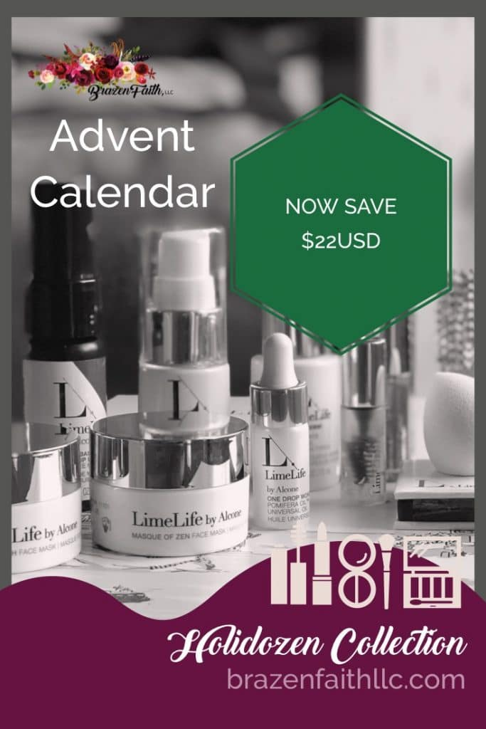 Holidozen Collection SALE, LimeLife by Alcone, Advent Calendar, Gift Set, Brazen Faith LLC, Jean Lucas