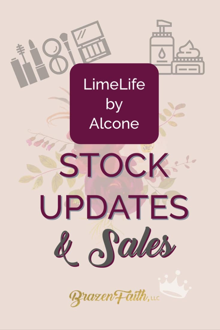 Do you have LimeLife by Alcone favorites that you cannot live without, but don't want a stockpile? My clients can bookmark this page to see when stock is low and when a public sale is in effect. Royal Guests/VIPs will get an email for exclusive offers/private launches. See page for details. This is one of many ways I hope to make your life easier. Thanks for your trust. //Jean brazenfaithllc.com