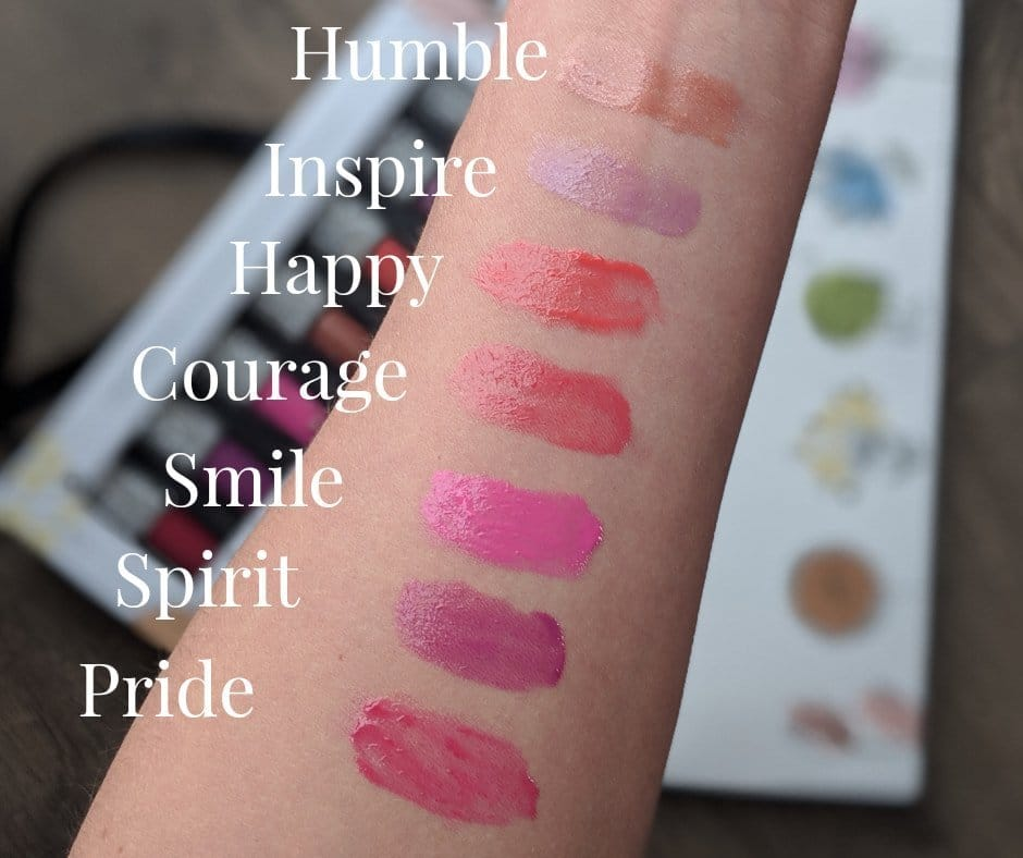 LimeLife by Alcone Spring 2019 Lip Glosses, Humble, Inspire, Happy, Courage, Smile, Spirit, Pride, Order through Jean Lucas, Independent Founding Global Beauty Guide