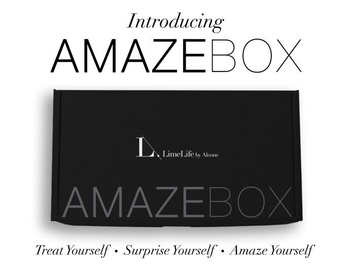 LimeLife by Alcone's Amazebox monthly subscription, 38 US Dollars, 57 Canadian Dollars, #livebrazenlybeautiful, #liveKindly, #liveLove, #amazebox, #limelife, #brazenfaithllc, #monthlytreasures