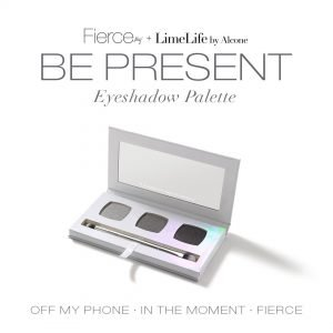 Fierce Aly Raisman Eyeshadow Palette with mirror and double-ended brush, Be Present, Aly Raisman, Fierce Collection, LimeLife by Alcone, #livebrazenlybeautiful, Jean Lucas, Founding International Beauty Guide, brazenfaithllc.com, #brazenfaithllc