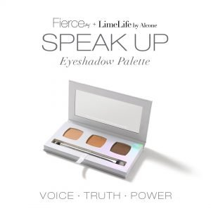 Fierce Aly Raisman Eyeshadow Palette with mirror and double-ended brush, Speak Up, Aly Raisman, Fierce Collection, LimeLife by Alcone, #livebrazenlybeautiful, Jean Lucas, Founding International Beauty Guide, brazenfaithllc.com, #brazenfaithllc