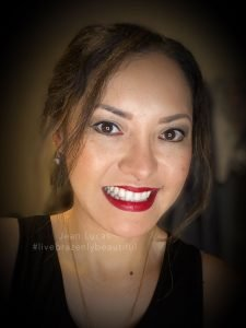 Jean Lucas Red Bold Lips, Founding International Beauty Guide with LimeLife by Alcone