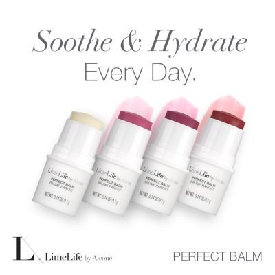 LimeLife by Alcone Perfect Balm, Eucalyptus and Mint, Pink Grapefruit, Dragonfruit, Ruby Red, and Melon, order with, Jean Lucas, #livebrazenlyyou, Soothe & Hydrate Every Day, How to prepare your lips for color.